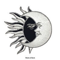 YIN YANG Sun Moon Embroidered Patch Iron on Sew On Badge For Clothes etc