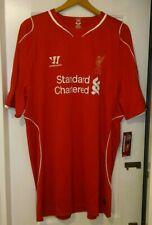 Liverpool Warrior Home Shirt 2014/2015 Season.  Size XXXL.  BNIB