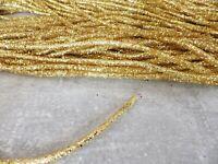 One metre x 5mm Bendable Glitter Rope Tube Ribbon Christmas Decs Crafts: GOLD