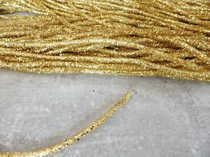 One metre x 5mm Bendable Glitter Rope Tube Ribbon Christmas Decs Crafts: GOLD