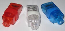 Set of 3 Red White and Blue Finger Mount LED Lights with Flex Band w/ Batteries