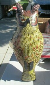 Dalen inflatable blow up Owl 18 inches Scarecrow device USED 1982