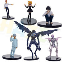 6pcs/set Anime DEATH NOTE Yagami Light PVC Action Figure Statue Model Toy No Box