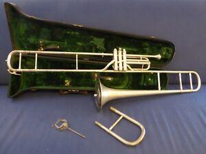 Lyon & Healy Antique 1894 Silver E flat Alto Valve Trombone in orig case