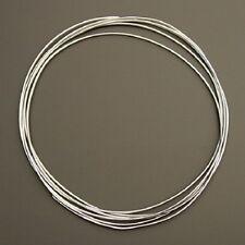 50 cm Silberdraht (echt); 925 Silber,  0,75 mm rund