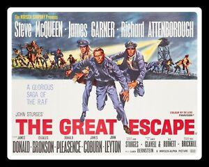 THE GREAT ESCAPE STEVE McQUEEN WAR FILM MOVIE METAL SIGN TIN PLAQUE POSTER 481