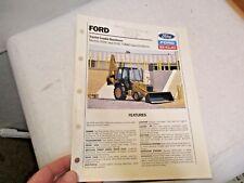 1990 Ford Tractor Loader Backhoes Brochure 555C, 655C Turbo in good shape - NR
