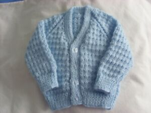 New baby boys hand knitted cardigan