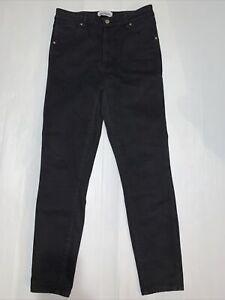 WRANGLER Hi Pins Jeans Women's Size 12 W30 Black Stretch Denim Skinny Zip Fly