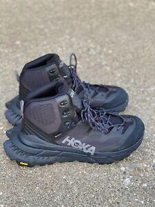 Hoka One One Tennine Hike Gore Tex Men's Size 9.5 D Black/dark Gull Grey Hiking