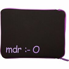 Urban Factory TAB02UF Purple Tablet Sleeve Case 10in Revers Zipper Internal