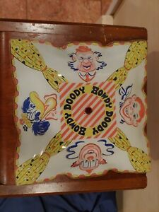 """Vintage 1950's Mid century Howdy Doody Kids toy Ceiling Glass Lamp Shade 12""""x12"""""""