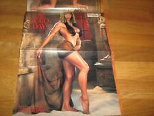 FLEX Bodybuilding Muscle Mag Lee Priest /Milamar Flores with poster 12-00