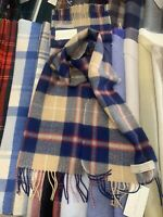 100% Lambswool tartan Scarf by Lochcarron | Navy Check | Made in Scotland