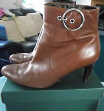 ECCO - BROWN ANKLE BOOTS - Size 40