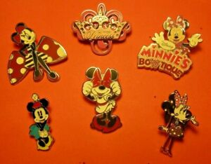 Disney Trading Pins Minnie Mouse Princess Bowtique Bundle of 6 in Lot 4