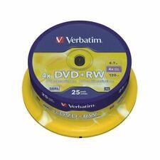 Verbatim DVD+RW 4x Spindle Pk25 43489 - VM83324