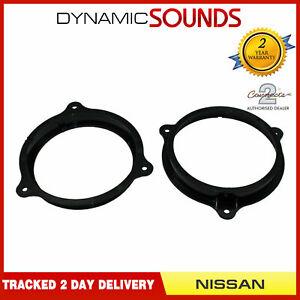CT25NS01 165mm Front Door Speaker Adaptor Kit Rings For Nissan Pulsar 2015-2018