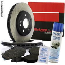 Metzger Bremsscheiben 286mm 5-Loch + Beläge hinten OPEL VECTRA B + Reiniger