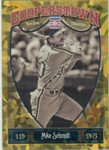 MIKE SCHMIDT /299 COOPERSOTOWN GOLD CRYSTAL CRACKED ICE PHILLIES #96 2013 PANINI
