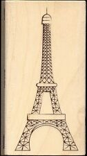 STAMPABILITIES rubber stamp EIFFEL TOWER wood mounted, Travel, Paris