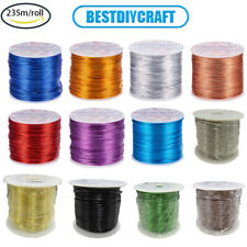 235m/roll 0.8mm Aluminum Wire Jewelry Craft Beading Wires for DIY Jewelry Making