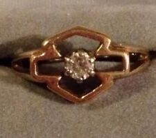Harley Davidson 10K Yellow Gold & Diamond Ring SZ 7 1/2 Stamper Genuine HD 3.8g