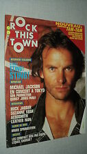 ROCK THIS TOWN 52 (11/87)STING MICHAEL JACKSON JAGGER SPRINGSTEEN AEROSMITH (2)