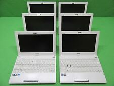 "*Lot of 6* Asus Eee PC Flare 1025C 10.1"" Netbooks C2D 1.6GHz 320GB HDD 1GB RAM"