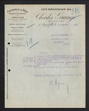 """AIGUEBELLE (73) SCIERIE / Commerce de BOIS """"Charles GRANGE"""" en 1931"""