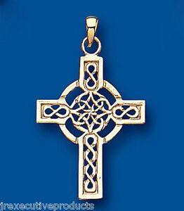 3 Argent Antique 40 mm Cross Irish Cross Charms Oc74 UK POST croix celtique