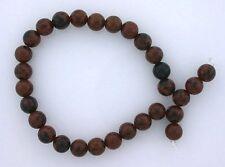 6mm Round Gemstone Gem Stone Scene Mahogany Obsidian Beads 7 Inch Strand