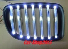 Front Kidney Grille Matte Black With WHITE LED For BMW E84 X1 5DR SUV 2009-2014