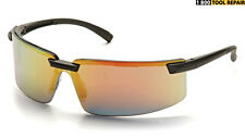 PYRAMEX SURVEYOR Ice Orange Red Mirror Black Safety Glasses Sunglasses SB6145S