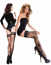 Hold ups with Floral Pattern Lace Top 20 Denier by Gabriella Vera Lima New