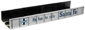 Atlas HO Code 100 Plate Girder Bridge Santa Fe - Silver Item #70000011