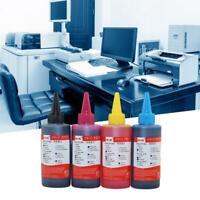 100ml$Printer Ink For HP Canon Desktop Inkjet Printers Black Blue Yellow Red