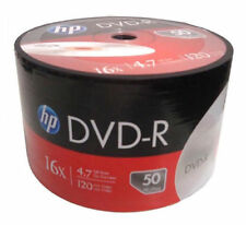 HP 16X Logo Blank DVD-R Recordable Disc Media 4.7GB Shrink Wrapped 50 pack