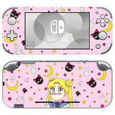 Nintendo Switch Lite Console Vinyl Skins Stickers Sailor Moon Cute Pink Crystal