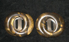 2 Antique Vintage COILED CELLULOID BELT BUCKLES ** RARE**