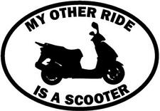 My Other Ride Is A Scooter Motorcycle Car Window Vinyl Decal Sticker