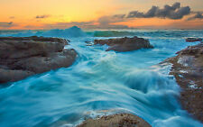 Framed Print - Wicked White Water Waves Rushing Over the Rocks (Picture Poster)