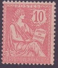 "FRANCE STAMP TIMBRE N° 124 "" MOUCHON RETOUCHE 10c ROSE 1902 "" NEUF xx TB"