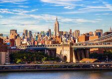 BROOKLYN BRIDGE MANHATTAN NY NEW A3 CANVAS GICLEE ART PRINT POSTER