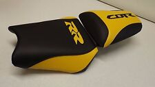 HONDA 2000/01 CBR 929RR  BLACK YELLOW 929 CUSTOM FRONT & REAR SEAT COVERS 929