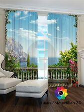 Fotogardinen 3D in alle Größe erhältlich. Foto Vorhang mit Motiv. Maßanfertigung