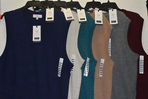 Turnbury Men's 100% Merino Wool V Neck Sweater Vest Biella Yarn S M L XL New