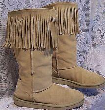 SKECHERS AUSTRALIA LEATHER FRINGED fashion BOOTS Womens SIZE 9