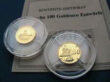 100 oro muestra euro 2011 placa pulida fondo specchio Proof