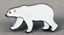 Metal Enamel Pin Badge Brooch Polar Bear Arctic Snow Polarbear White